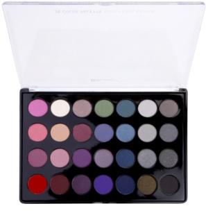 BHcosmetics 28 Color Smoky paleta kouřových očních stínů
