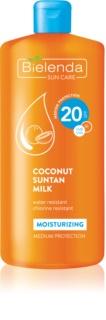 Bielenda Bikini Coconut nawilżające mleczko do opalania SPF 20