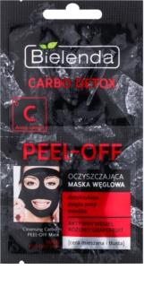 Bielenda Carbo Detox slupovací pleťová maska s aktivním uhlím pro smíšenou a mastnou pleť