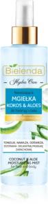 Bielenda Hydra Care Coconut & Aloe neblina hidratante para rosto e corpo
