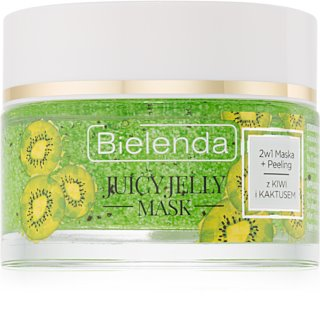 Bielenda Juicy Jelly Kiwi & Cactus Cleansing Mask and Scrub 2 in 1