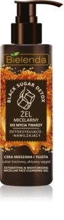 Bielenda Black Sugar Detox gel de limpeza micelar com efeito hidratante