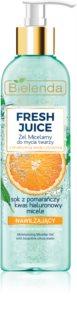 Bielenda Fresh Juice Orange gel de limpeza micelar com efeito hidratante