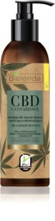 Bielenda CBD Cannabidiol emulsão de limpeza de cânhamo para pele oleosa e mista