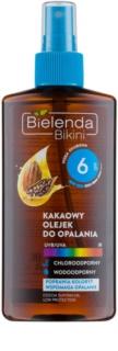 Bielenda Bikini Cocoa Öl-Spray für Bräunung SPF 6