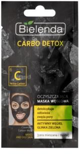 Bielenda Carbo Detox Active Carbon Μάσκα καθαρισμού με ενεργό άνθρακα για μικτή και λιπαρή επιδερμίδα
