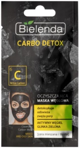 Bielenda Carbo Detox Active Carbon Cleansing Mask with Activated Charcoal for Oily and Combiantion Skin