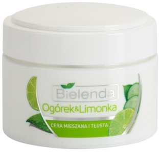 Bielenda Cucumber&Lime creme hidratante matificante para pele oleosa e mista
