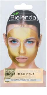 Bielenda Metallic Masks Gold Detox регенерираща и детоксикираща маска за зряла кожа