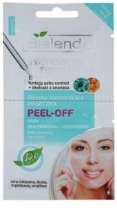 Bielenda Professional Formula żelowa maseczka typu peel-off do ściągnięcia porów i nadania skórze matowego wyglądu