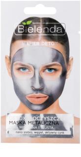 Bielenda Metallic Masks Silver Detox razstrupljevalna in čistilna maska za mešano in mastno kožo
