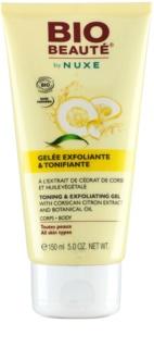 Bio Beauté by Nuxe Body tonizirajoči in eksfoliacijski gel z izvlečki korziške limone in botaničnim oljem