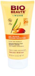 Bio Beauté by Nuxe Sun Care mineralno zaščitno mleko za obraz in telo SPF 20