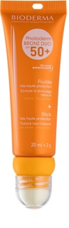 Bioderma Photoderm Bronz ochronny fluid do twarzy i balsam do ust SPF 50+