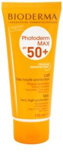 Bioderma Photoderm Max mlijeko za sunčanje za netolerantnu kožu SPF 50+
