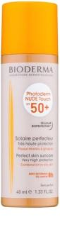 Bioderma Photoderm Nude Touch защитен тониращ флуид за смесена към мазна кожа  SPF 50+
