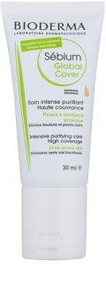 Bioderma Sébium Global Cover cuidado de cobertura intensivo para a pele propensa a acne