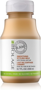 Biolage RAW Styling Smoothing Styling Milk with Honey and Oat