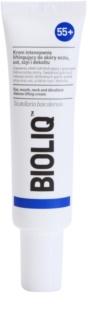 Bioliq 55+ creme de lifting intensivo para a pele delicada do cortorno de olhos, lábios , pescoço e decote