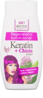 Bione Cosmetics Keratin + Chinin après-shampoing régénérant pour cheveux