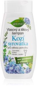 Bione Cosmetics Kozí Syrovátka šampon a sprchový gel pro citlivou pokožku