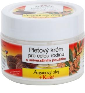 Bione Cosmetics Argan Oil + Karité Gezichtscrème voor Heel Gezin