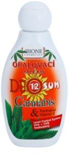 Bione Cosmetics DUO SUN Cannabis молочко для засмаги SPF 12