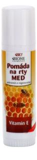 Bione Cosmetics Honey + Q10 ochranný a regeneračný balzam na pery s vitamínom E