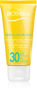 Biotherm Crème Solaire Dry Touch Matte Sunscreen On Your Face SPF 30
