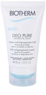 Biotherm Deo Pure Sensitive Skin кремовий антиперспірант для чутливої шкіри після депіляції