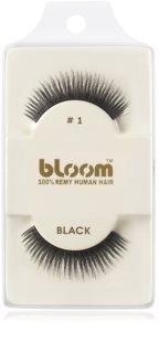 Bloom Natural naklejane sztuczne rzęsy z naturalnych włosów
