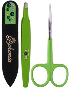 Bohemia Crystal Bohemia Swarovski Nail File,Tweezers and Nail Clippers Kosmetik-Set  I.