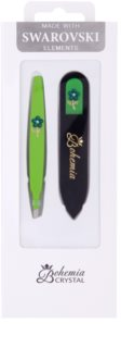 Bohemia Crystal Bohemia Swarovski Nail File and Tweezers Cosmetic Set IV.