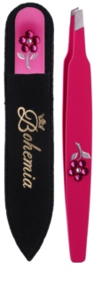 Bohemia Crystal Bohemia Swarovski Nail File and Tweezers Cosmetic Set II. for Women