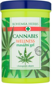 Bohemia Gifts & Cosmetics Cannabis gel pentru masaj cu ulei de canepa