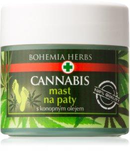 Bohemia Gifts & Cosmetics Cannabis мазь для ороговілої шкіри ступней з конопляною олією