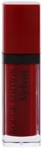 Bourjois Rouge Edition Velvet течно червило с матиращ ефект