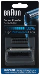 Braun Series 1  10B/20B CombiPack CruZer Foil & Cutter касета: бриюча сітка та ріжучий блок