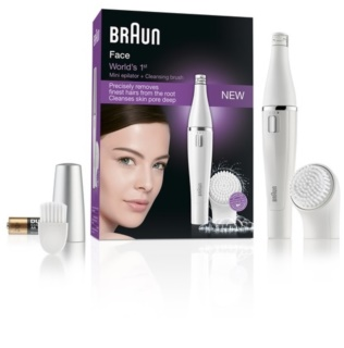 Braun Face 810 Epilator with Cleansing Brush For Face