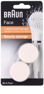 Braun Face  80-b Beauty Sponge capete de schimb 2 pc