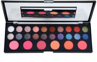 BrushArt Pro Makeup Oogschaduw en Blush Palette met Spiegeltje