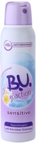 B.U. In Action Sensitive antiperspirant pro ženy 150 ml