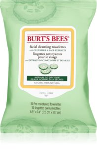 Burt's Bees Cucumber & Sage Cleansing and Make-up Removing Wipes for Normal to Dry Skin
