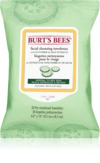 Burt's Bees Cucumber & Sage καθαριστικά μαντηλάκια και ντεμακιγιάζ για κανονική έως ξηρή επιδερμίδα