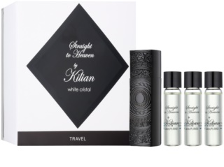 By Kilian Straight To Heaven, white cristal eau de parfum para hombre 4 x 7,5 ml (1x recargable + 3x recarga)