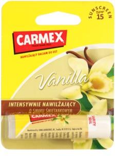 Carmex Vanilla хидратиращ балсам за устни в тубичка SPF 15