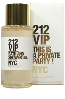 Carolina Herrera 212 VIP gel de duche para mulheres 200 ml