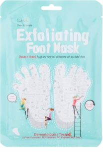 Cettua Clean & Simple Exfoliating Foot Mask for Cracked Skin + Socks
