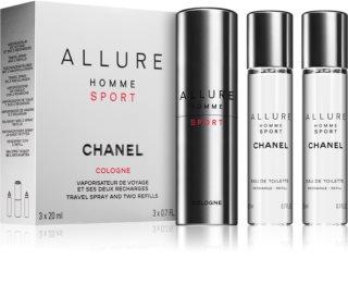 Chanel Allure Homme Sport Cologne kolonjska voda ((1x punjiva + 2x punjenje)) za muškarce