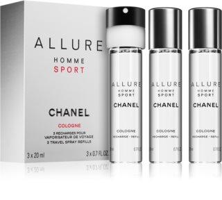 Chanel Allure Homme Sport Cologne kolonjska voda (3x punjenje) za muškarce